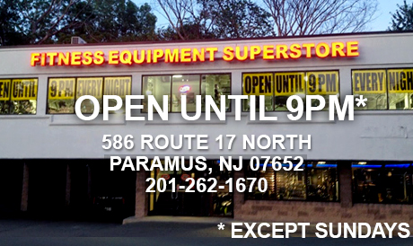 SHOP UNTIL 9PM NIGHTLY AT FITNESS SHOWROOMS IN PARAMUS
